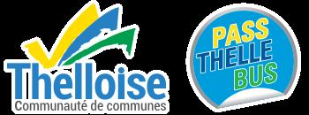 logo Communauté de communes Thelloise et logo Pass Thelle Bus service de transport à la demande